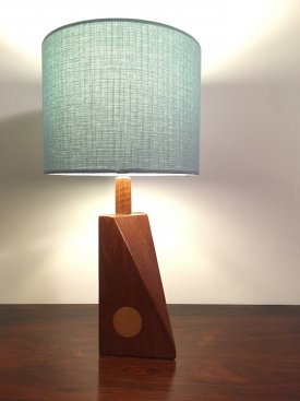 Teak Spotted Table Lamp
