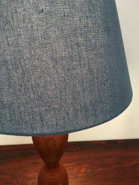 Teak Hourglass Table Lamp
