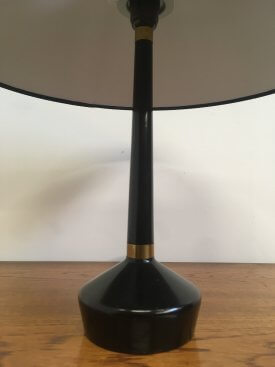 Black and Brass Table Lamp