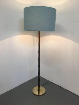 Rosewood & Brass Standard Lamp