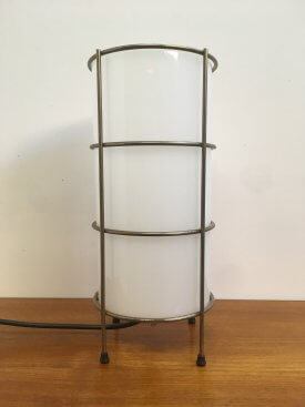 Opaline and Brass Table Lamp