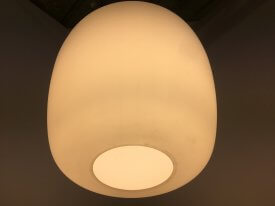 Large Tapered Opaline Pendant