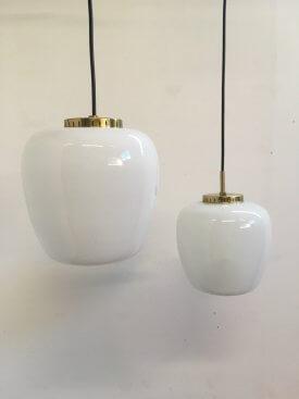 Opaline and Brass Pendants