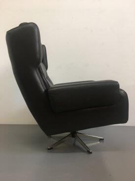 Danish Buttoned Swivel Armchair Max Inc