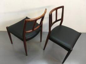 Johannes Andersen Rosewood Chairs