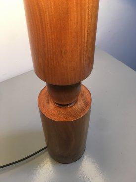 Danish Turned Sculptural Lamp