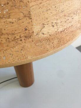 Teak & Brass Table Lamp