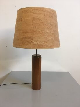 Teak & Brass Table Lamp