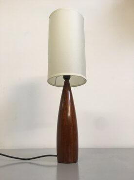 Solid Teak Bottle Lamp