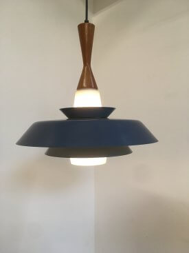 Danish Blue Reflector Pendant