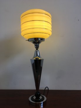 French Art Deco Table Lamp.