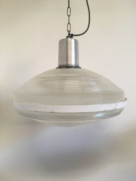 Flying Saucer Holophane Pendants