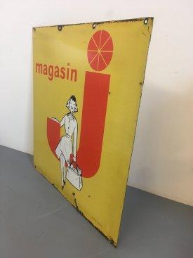 Magasin J Enamel Sign