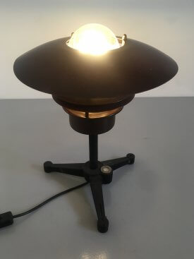 Copper Finned Table Lamp