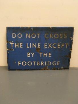 Scottish Rail Enamel Sign