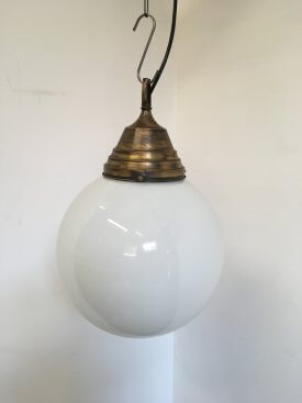 Large Globe Opaline