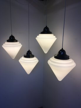 Tiered Coned Opaline Pendants