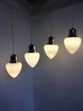 Opaline Bullet Shaped Pendants