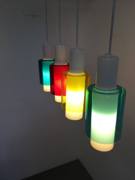 Louis Poulsen Coloured Glass Pendants