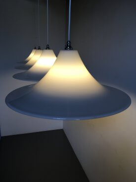 Opaline Flared Cone Pendants