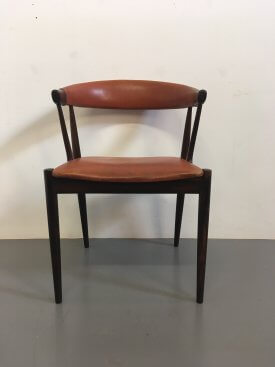 Johannes Andersen Rosewood Elbow Rest Chair