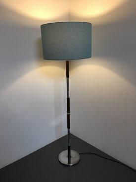 Rosewood & Aluminium Extending Standard Lamp
