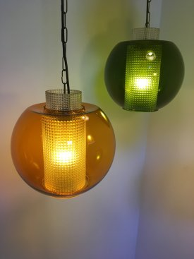 Danish Coloured Glass Pendants