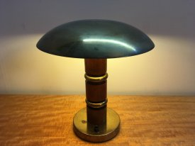 Walnut & Brass Table Lamp