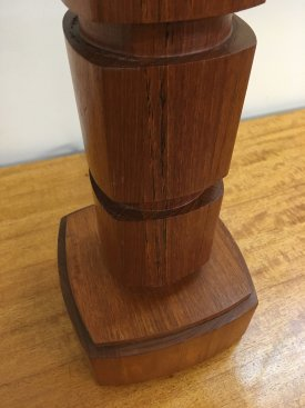 Teak Architectural Table Lamp