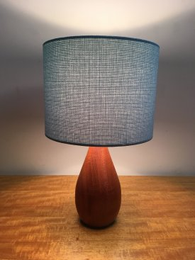 Teak Bottle Table Lamp