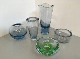 Various Holmegaard Vases