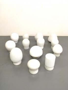 Dutch Opaline & Ceramic wall lights