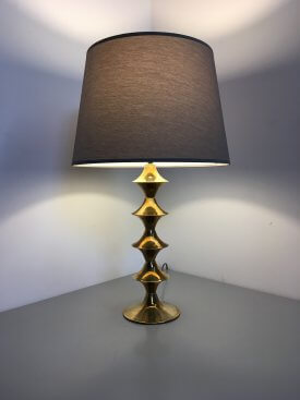 Large French Brass Table Lamp
