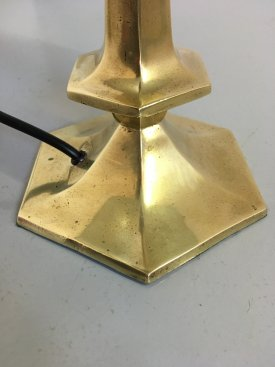 French Brass Table Lamp