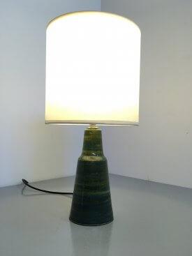 Danish Green Glazed Table Lamp