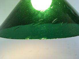 French Green Glass Pendant