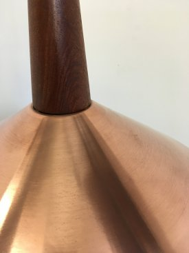 Copper & Teak stem pendant
