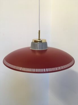 Lyfa Burgundy Perforated Pendant.