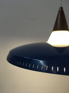 Blue Perforated Pendant