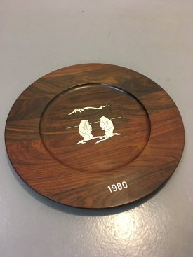 Solid Rosewood & Stirling Silver Platters
