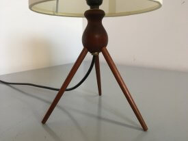 Teak Tripod Table Lamp