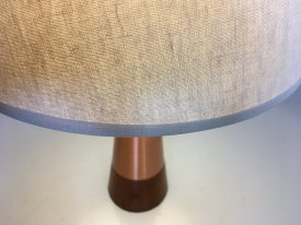 AWF Copper & Teak Table Lamp
