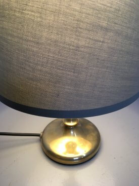 Brass 'Candle Stick' Table Lamp