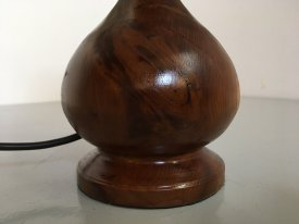 Solid Yew Table Lamp