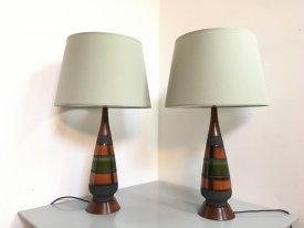 West German Ceramic Lamps