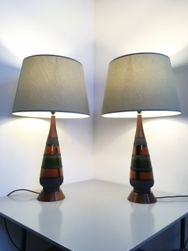 West German Ceramic Lamps