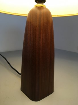 Teak & Hessian Bottle Lamp