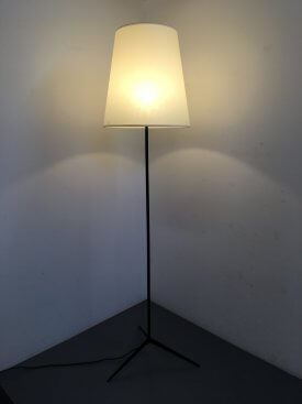 French Finned Standard Lamp