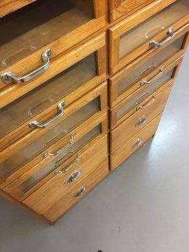 Oak Haberdasher's Cabinet