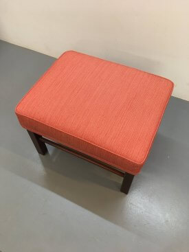 Danish Wool Armchair & Foot Stool